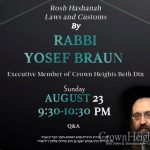 Preparing For Rosh Hashana, An Overview of the Halachos and Minhagim