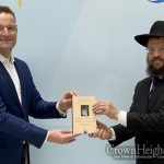 Germany's Federal Minister of Health Meets Rabbi Yehuda Teichtal, Discusses New Jewish Campus