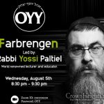 Ohel Yosef Yitzchok to Farbreng For The 15th of Av