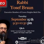 Yom Kippur Shiur With Rabbi Braun