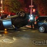 Car Rolls Over In Late Night Crash in Crown Heights
