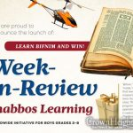 Week-In-Review Shabbos Learning Program Launches For Boys Everywhere