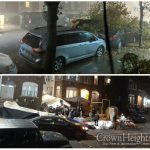 Flash Flooding and Downed Trees As Storm Blows Through Crown Heights