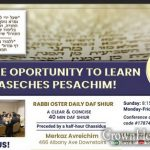 Unique Opportunity to Learn Daf Yomi In Crown Heights