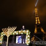 Photo Gallery: Eifel Tower Lit Up With The Light of The Menorah
