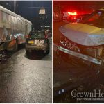 Crown Heights Library Bus Damaged After Car Crash