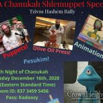 Wednesday: Zoom Chanukah Rally in Pittsburgh