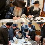 Rebbeim and Gedolim Join in Writing Unity Sefer Torah