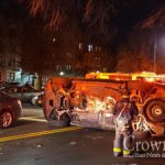 Vehicle Overturns on Eastern Parkway After Collision
