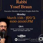 Monday: Shiur on Shabbos Erev Pesach