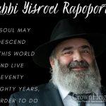 LIVE: Shloshim Event For Rabbi Yisroel Rapaport