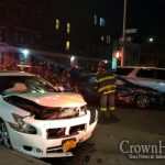 Two Cars Collide In Late Night Hit-n-Run in Crown Heights