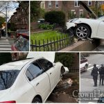 Car Slams Into Home in Crown Heights, Driver Arrested