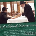 Sefer Torah To Be Dedicated In Honor of Rabbi Groner