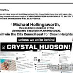 For The 35th City Council District, It's Vote Crystal Hudson or Get a Socialist Antisemite
