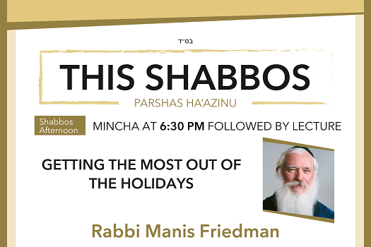 Shabbos at the BESHT: Getting the Most Out of the Holidays