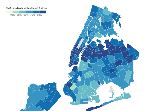 Crown Heights Vaccine Rates Among NYC's Lowest